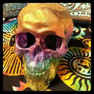 Large heavy Bismuth crystal skull AMAZING!!